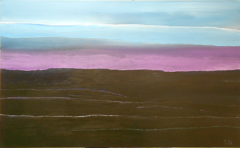 Pieter Woest Water (2014, acryl op linnen, 120 x 80 cm